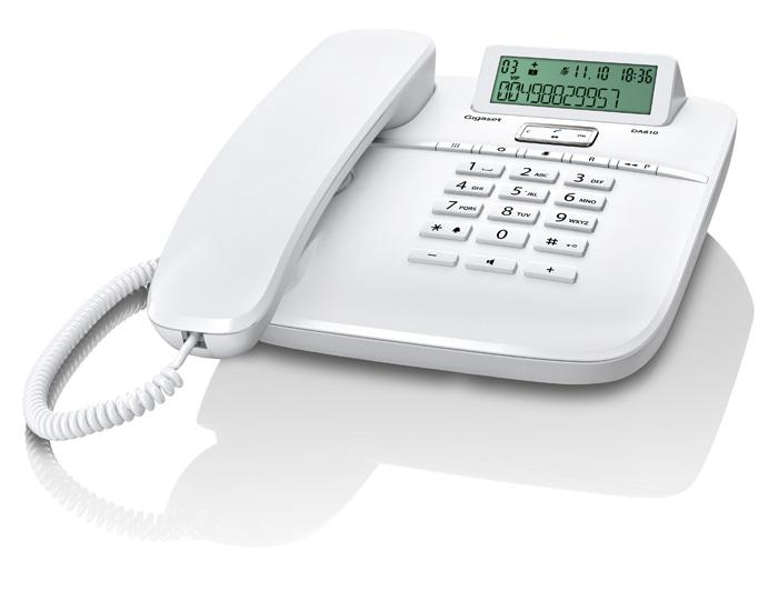 Телефон аналоговый Siemens Gigaset DA710 IM White