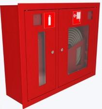 ШПК-315 ВЗБ шкаф пожарный под 1 рукав и 1 огнетушитель (встроенный, без стекла, белый)