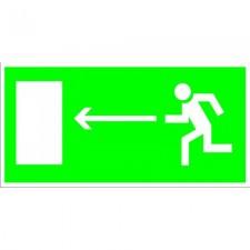 Пластик Фотолюм. (Е 04) Направление к эвакуационному выходу налево