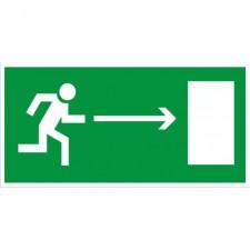 Пластик Фотолюм. (Е 03) Направление к эвакуационному выходу направо