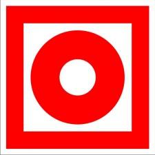 Знак-Плёнка 100х100 (F-10) Кнопка включения установок (систем) пожарной автоматики