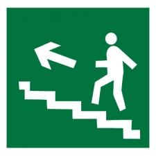 Знак-Плёнка (Е 16) Направление к эвакуац.выходу по лестнице вверх, левосторонний