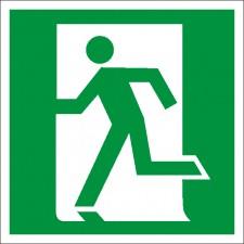 Знак-Плёнка (Е 14) Направление к эвакуац.выходу по лестнице вниз, левосторонний