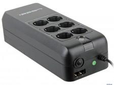 Источник бесперебойного питания Ippon Back Verso 600 (black/silver, USB, RS232, RJ11)